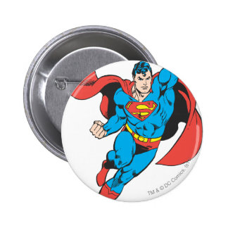 Superman Right Fist Raised 2 Inch Round Button