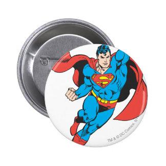 Superman Right Fist Raised Pinback Button