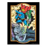 Superman + Robin Fight Brainiac Post Cards