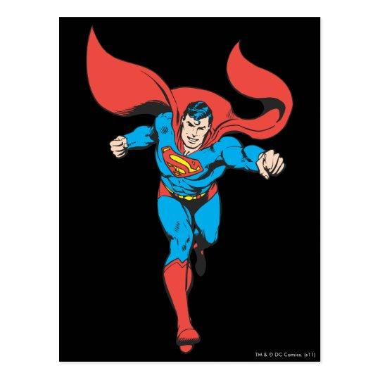 Superman Runs Forward 2 Postcard