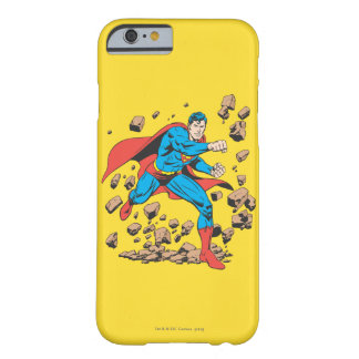 Superman Runs in Rubble Barely There iPhone 6 Case