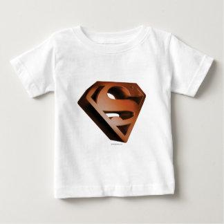 Superman S-Shield   3D Grainy Logo Baby T-Shirt