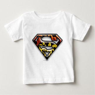 Superman S-Shield   Black Outline Graffiti Logo Baby T-Shirt