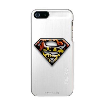 Superman S-Shield | Black Outline Graffiti Logo Metallic Phone Case For iPhone SE/5/5s