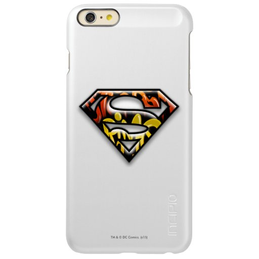 Superman S-Shield | Black Outline Graffiti Logo Incipio Feather Shine iPhone 6 Plus Case