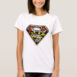 Superman S-Shield | Black Outline Graffiti Logo T-Shirt