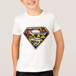 Superman S-Shield | Black Outline Graffiti Logo T-Shirt