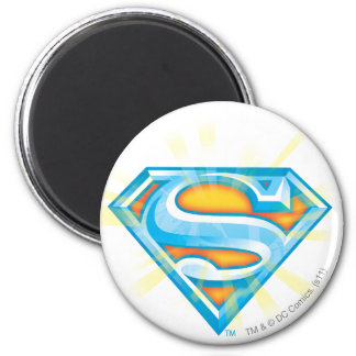 Superman S-Shield | Blue and Orange Logo 2 Inch Round Magnet