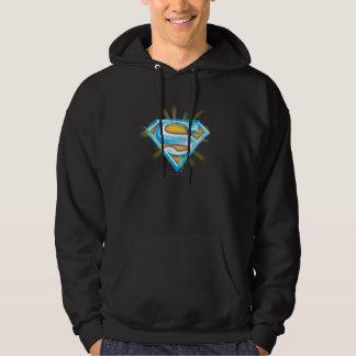 Superman S-Shield   Blue and Orange Logo Hoodie