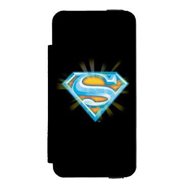 Superman S-Shield | Blue and Orange Logo Wallet Case For iPhone SE/5/5s