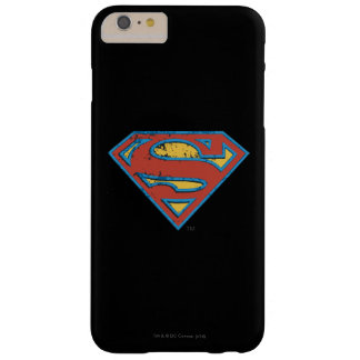 Superman S-Shield | Blue Outline Grunge Logo Barely There iPhone 6 Plus Case