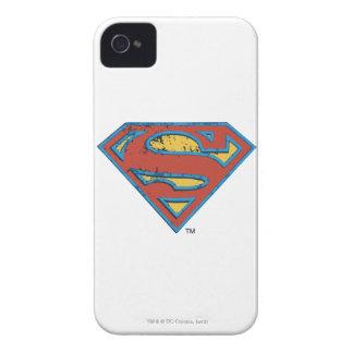 Superman S-Shield | Blue Outline Grunge Logo iPhone 4 Case-Mate Case