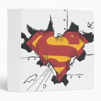 Superman S-Shield | Broken Metal Logo 3 Ring Binder