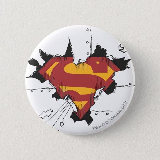 Superman S-Shield   Broken Metal Logo Button