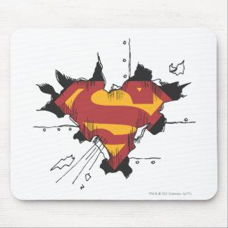 Superman S-Shield | Broken Metal Logo Mouse Pad