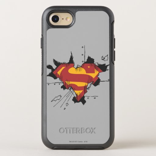 Superman S-Shield | Broken Metal Logo OtterBox Symmetry iPhone SE/8/7 Case