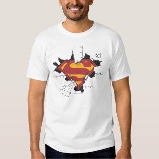 Superman S-Shield | Broken Metal Logo T-Shirt