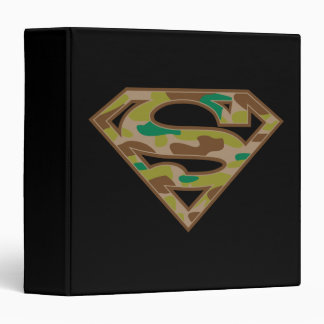 Superman S-Shield | Camouflage Logo 3 Ring Binder