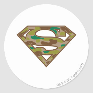 Superman S-Shield | Camouflage Logo Classic Round Sticker