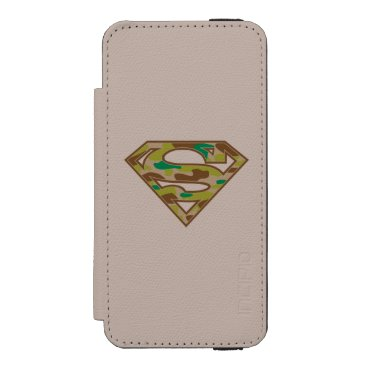 Superman S-Shield | Camouflage Logo iPhone SE/5/5s Wallet Case
