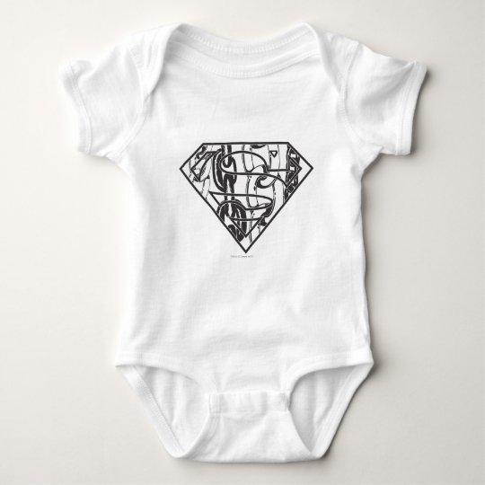 Superman S-Shield   Chainlink Logo Baby Bodysuit