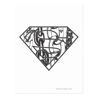 Superman S-Shield | Chainlink Logo Postcard