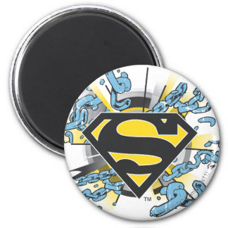Superman S-Shield | Chains Logo 2 Inch Round Magnet