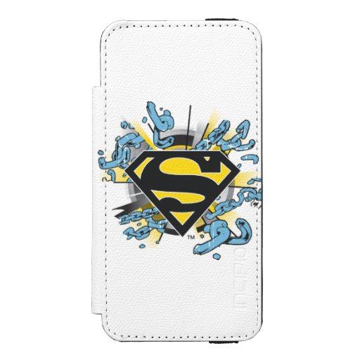 Superman S-Shield | Chains Logo Wallet Case For iPhone SE/5/5s