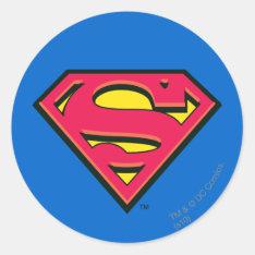 Superman S-Shield | Classic Logo Classic Round Sticker at Zazzle