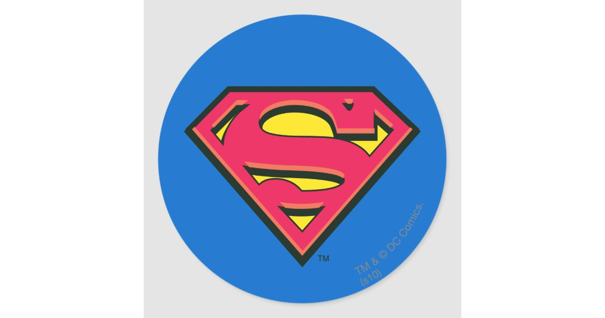 Superman S Shield Classic Logo Classic Round Sticker