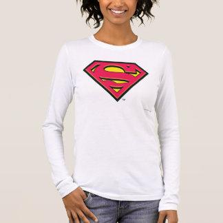 Superman S-Shield   Classic Logo Long Sleeve T-Shirt