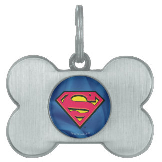 Superman S-Shield   Classic Logo Pet ID Tag