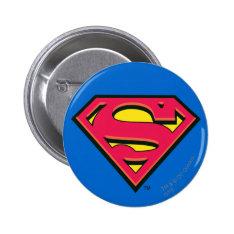 Superman S-shield | Classic Logo Pinback Button at Zazzle