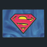 "Superman S-Shield | Classic Logo Placemat<br><div class=""desc"">A beveled version of the classic Superman S-Shield logo atop a blue fabric texture.</div>"