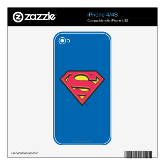 Superman S-Shield | Classic Logo Skins For iPhone 4