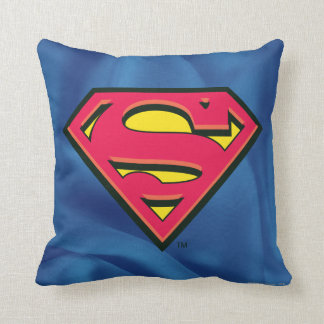 Superman S-Shield | Classic Logo Throw Pillow