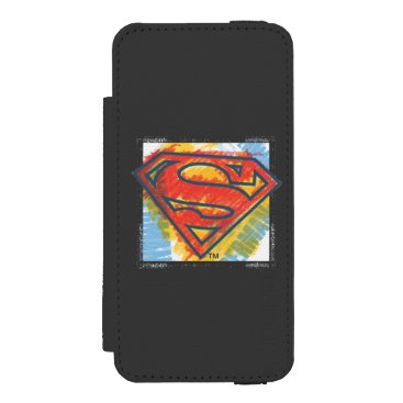 Superman S-Shield | Colored Logo Wallet Case For iPhone SE/5/5s