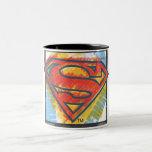 Superman S-Shield | Colored Logo Two-Tone Coffee Mug