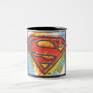 Superman S-Shield   Colored Logo Two-Tone Coffee Mug