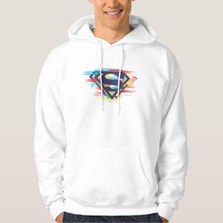 Superman S-Shield   Colorful Logo Hoodie