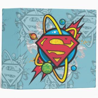 Superman S-Shield   Cosmic Superman Logo 3 Ring Binder
