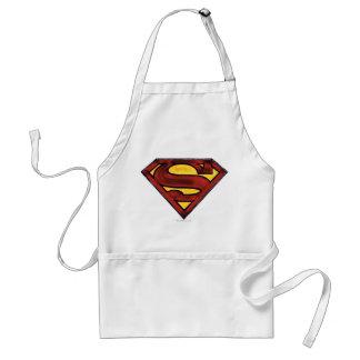 Superman S-Shield   Darkened Red Logo Adult Apron
