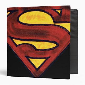 Superman S-Shield | Darkened Red Logo Binder