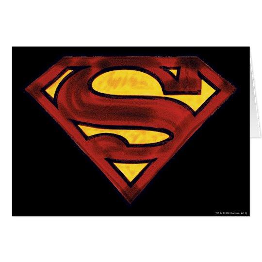 Superman S-Shield | Darkened Red Logo Card