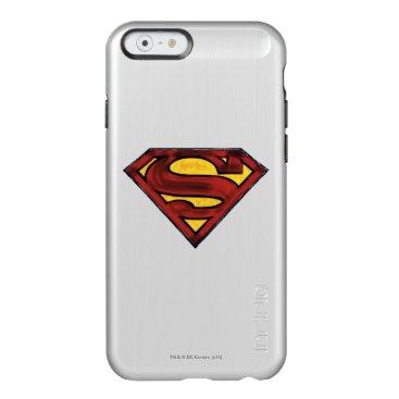Superman S-Shield   Darkened Red Logo Incipio Feather Shine iPhone 6 Case