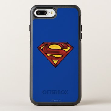 Superman S-Shield | Darkened Red Logo OtterBox Symmetry iPhone 8 Plus/7 Plus Case