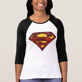 Superman S-Shield   Darkened Red Logo T-Shirt