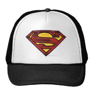 Superman S-Shield | Darkened Red Logo Trucker Hat