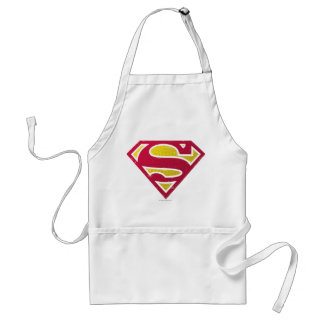 Superman S-Shield | Distressed Dots Logo Adult Apron