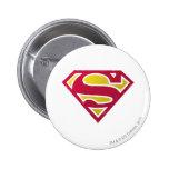 Superman S-Shield | Distressed Dots Logo Pinback Button